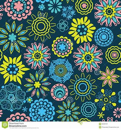 Pattern Abstract Seamless Floral Theme Spring Texture