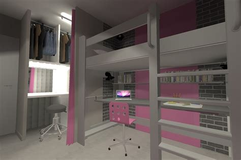 amenagement chambre mezzanine ordinaire amenagement chambre ado fille 5 lit mezzanine