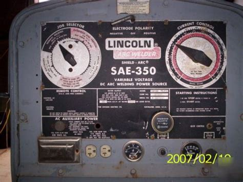 lincoln electric company arc welder mdl sae  var vdc