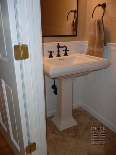 powder room renovation mitre contracting