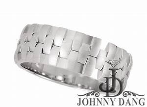 tvj50983 laser pierced ladies or gents wedding band With johnny dang wedding rings