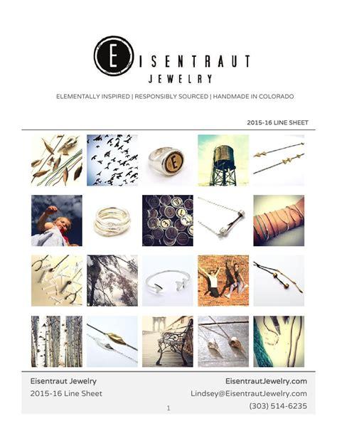 eisentraut jewelry line sheet 2015 16 artists business