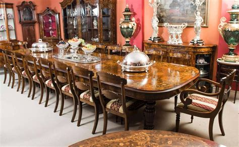 antique dining room tables for marquetry walnut extending dining table 18 chairs for 9025