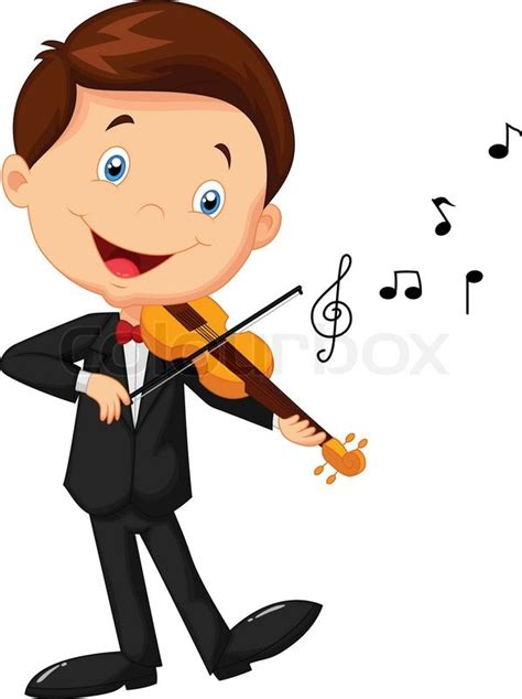 anak fn vector illustration of boy violin