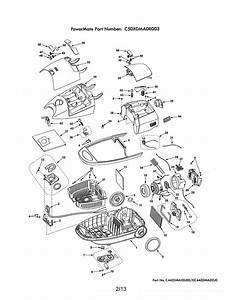 Kenmore 11629914901 Canister Vacuum Parts