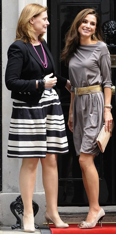 Sarah Brown Welcomes Another Fashionable First Lady As Youthful Queen Rania Of Jordan Arrives At