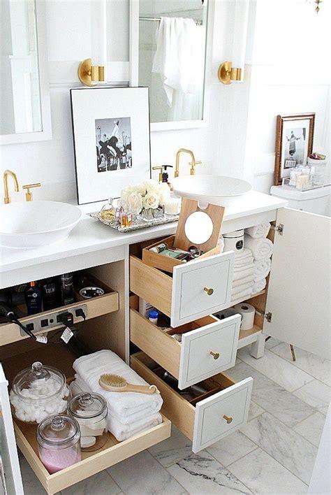easy beautiful ways  organize  bathroom dream