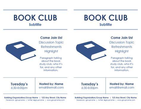 book club flyer template   page  vertexcom