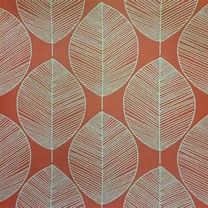 Arthouse Retro Leaf Amber Wallpaper 408208