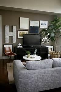 Meuble Tele Gris : le meuble t l en 50 photos des id es inspirantes ~ Teatrodelosmanantiales.com Idées de Décoration