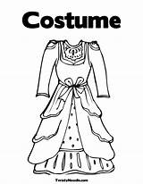 Coloring Dress Theatre Pages Dresses Costume Template Printable Twistynoodle Colouring Clothes Princess Getcoloringpages Fancy Barbie Templates Popular Sketch sketch template