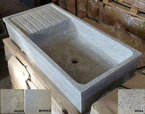 lavelli in cemento lavandino lavello acquaio pilozzo in graniglia di marmo