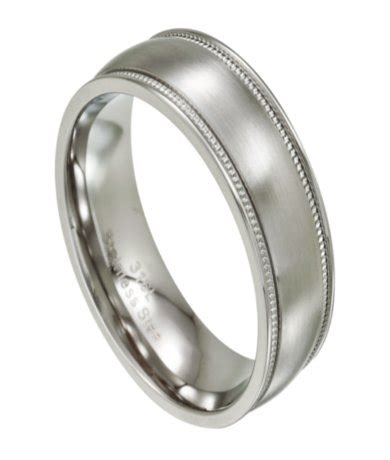 stainless steel wedding bands stainless steel wedding ring for with milgrain edges