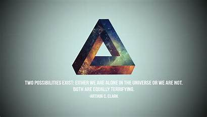Quote Triangle Penrose Typo Desktop Wallpapers Backgrounds