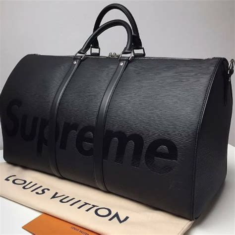 louis vuitton  supreme keepall bandouliere bags spotted fashion