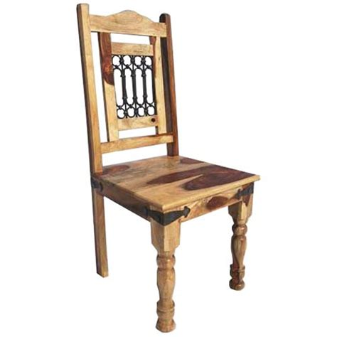 peoria solid wood wrought iron rustic kitchen dining chair