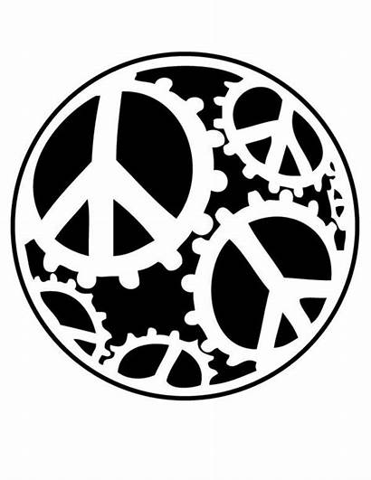 Coloring Pages Peace Sign Printable Hippie Sheets