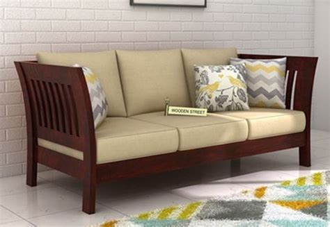 three seater wooden sofa designs 3 seater sofa buy three seater sofa online upto 60 off