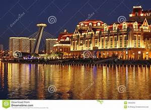 Tianjin City Landscape—Night View Editorial Image - Image ...