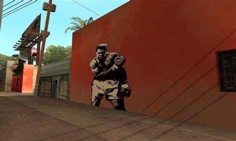 Graffiti Muhammad : Gta San Andreas Muhammad Ali Graffiti Mod
