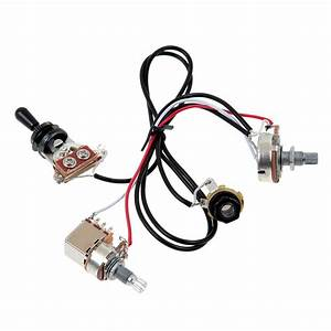 Two Humbucker Guitar Wiring Harness Black 3 Way Toggle
