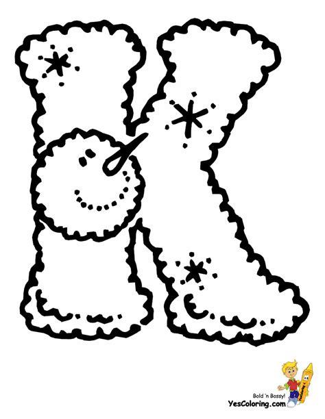 lumpy snowman christmas letters  alphabet christmas