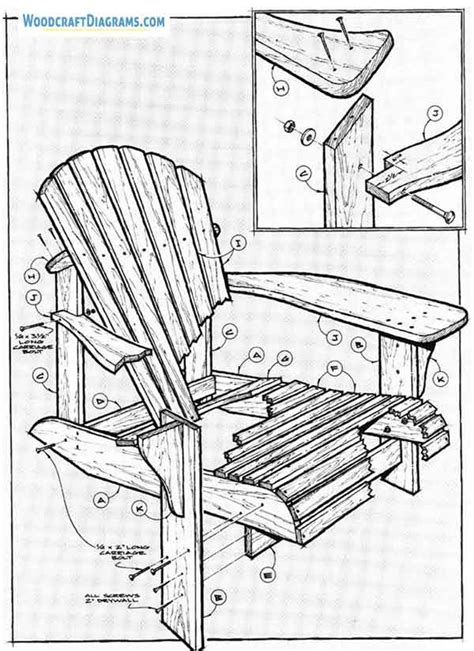 diy adirondack chair plans blueprints  practical lounger