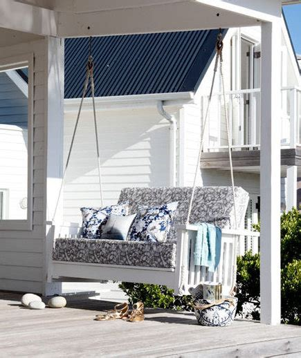swinging pretty  outdoor decor ideas real simple