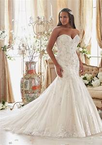 plus size wedding dress with crystals on tulle style With large size wedding dresses