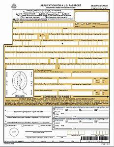 Application form application form ds 11 for Documents for a us passport