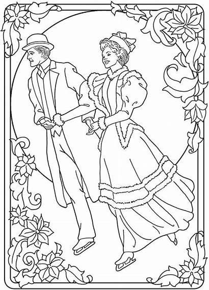 Christmas Fashioned Coloring Pages Books Dover Adult