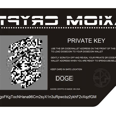 Metal Cold Wallet Storage Card for Dogecoin – AXIOM CRYPTO