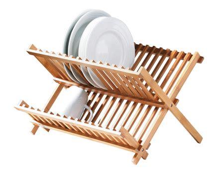bamboo plate rack store dish racks sink area store