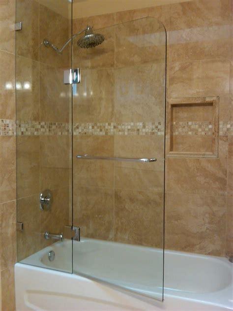 Hinged Glass Shower Doors by Bathtub Glass Enclosures 187 Bathroom Design Ideas