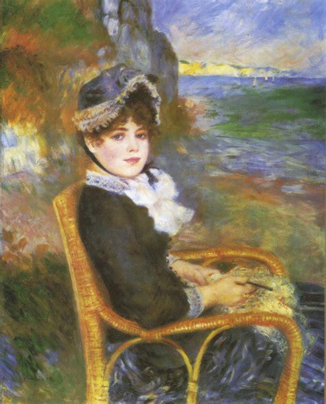 Renoir Oil Painting By The Seashore
