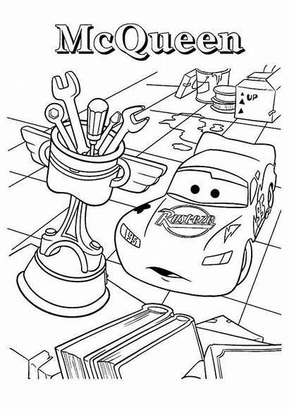 Coloring Cup Cars Piston Pages Trophy Mcqueen