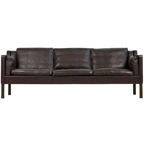 brown 1960s borge mogensen leather sofa mod 2213 danish