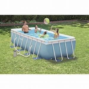 kit piscine tubulaire intex rectangulaire 4x2x1m achat With piscine autoportee rectangulaire intex 1 photo piscine bois hawai