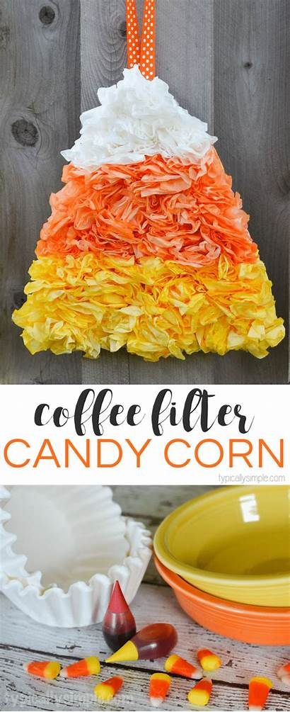 Coffee Craft Filter Fall Candy Corn Crafts