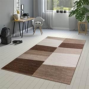 Teppich Grün Braun : designer teppich braun meliert kurzflor modern kariert optik hochwertig moderne teppiche ~ Markanthonyermac.com Haus und Dekorationen