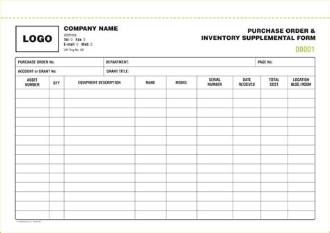inventory form templates excel xlts