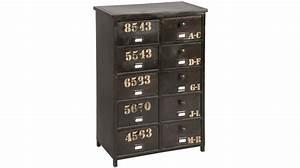 Meuble Casier Rangement : meuble de rangement en acier 10 tiroirs casier industriel ~ Teatrodelosmanantiales.com Idées de Décoration