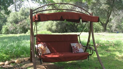 Patio Swing Tresco Brick Canopy And Cushion Covers For The