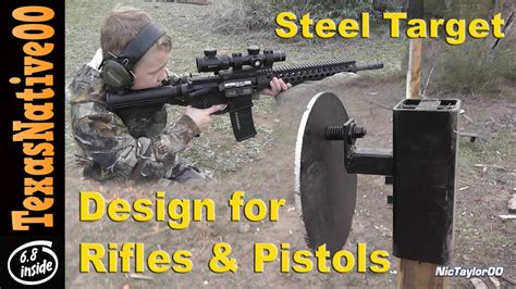 steel target design  rifle  pistol shooting youtube
