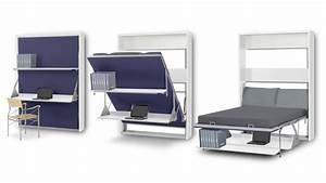Bureau Avec étagère : lit bureau pliable 2 places matrix gagnez du rangement sur mobilier moss mobilier moss ~ Preciouscoupons.com Idées de Décoration