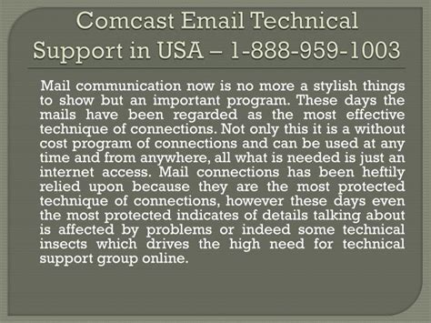 comcast technical support phone number ppt comcast mail technical support phone number 888