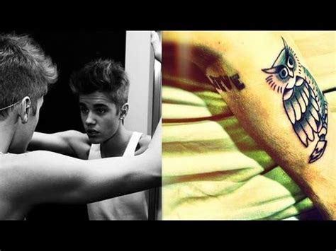 justin bieber owl tattoo meaning explained youtube