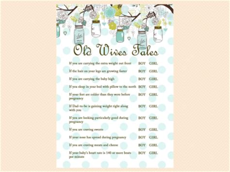mason jars baby shower game package magical printable