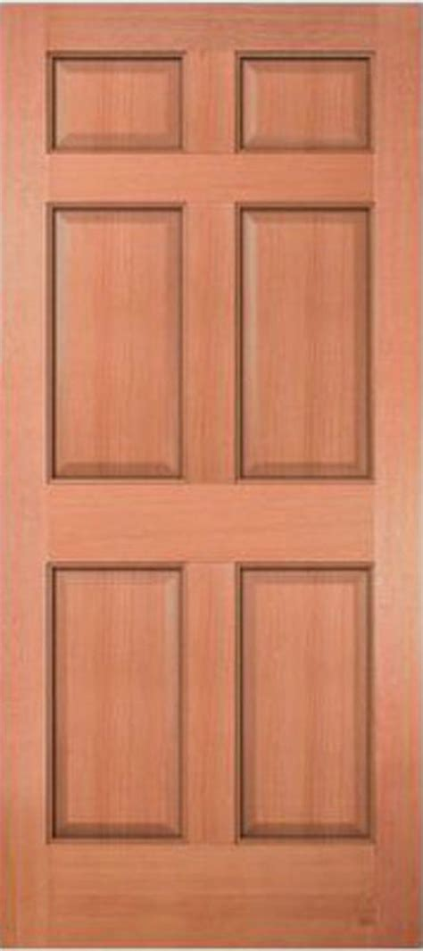 6 Panel Wood Interior Doors by Exterior Entry Meranti Mahogany 6 Panel Raised Solid Stain
