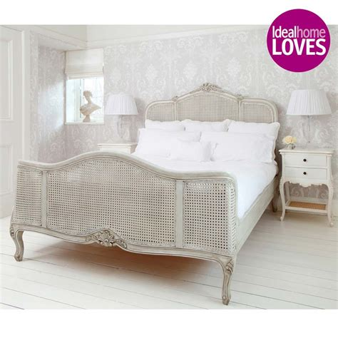The Bedroom Company by Grey Painted Rattan Bed Bedroom Company